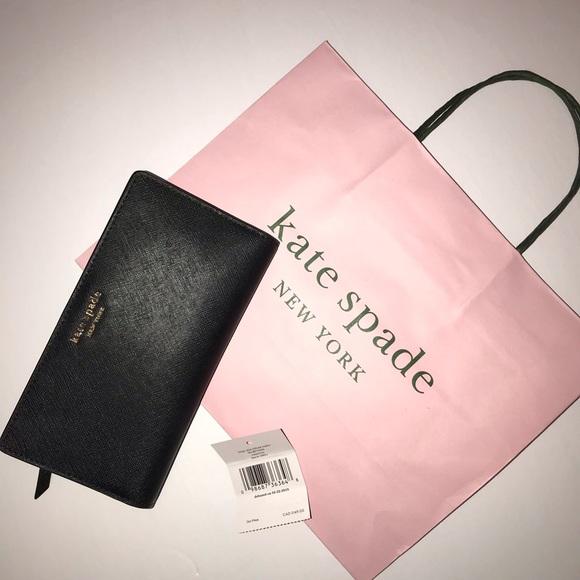 NWT Kate Spade Bifold Wallet Black
